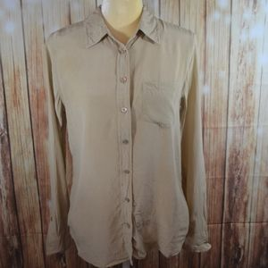 Equipment Femme Beige Silk Blouse Size Small